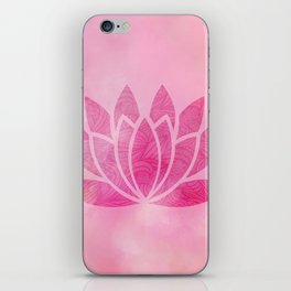 Zen Watercolor Lotus Flower Yoga Symbol iPhone Skin