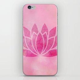 Zen Watercolor Lotus Flower Yoga Symbol iPhone Skin