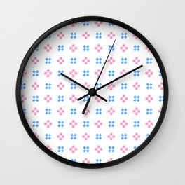 four lines 9 Blue and pink Wall Clock
