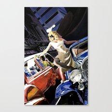 Domino Lady # 5 Canvas Print