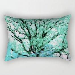 Blue tree Rectangular Pillow