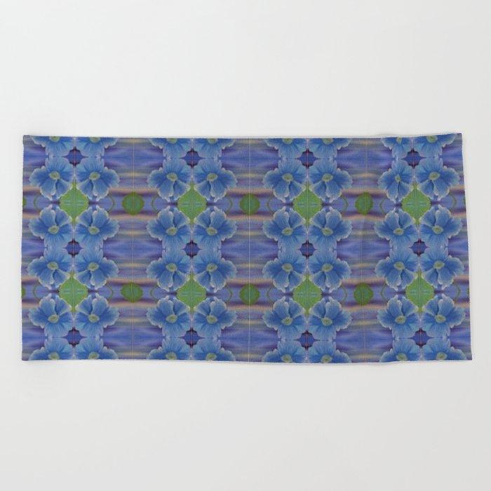 Nasturtium Flower Pattern Beach Towel