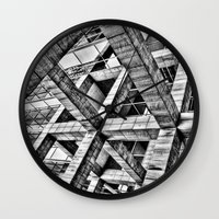 frames Wall Clocks featuring Frames by Mark Alder