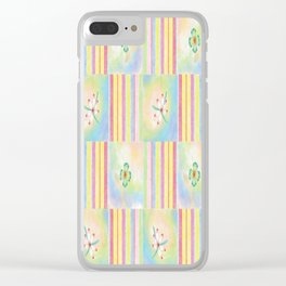 Candy Floral 3 Clear iPhone Case