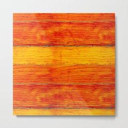 ORange wood Metal Print