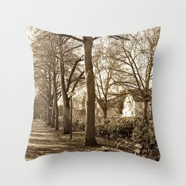A lonely world Throw Pillow