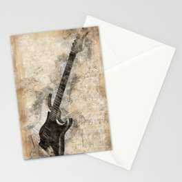 Sounds of music. Guitar Stationery Cards
