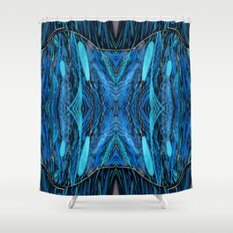 Night Grass Woven Abstract by Amanda Laurel Atkins Shower Curtain