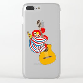 Heroes Sloth Vintage Guitar Clear iPhone Case