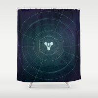destiny Shower Curtains featuring Destiny by Smorgashborg