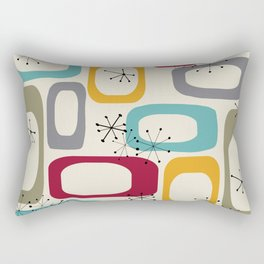 Mid Century Modern Shapes 01 #society6 #buyart  Rectangular Pillow