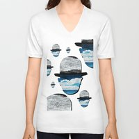 magritte V-neck T-shirts featuring Ceci n'est pas une Magritte by Condor