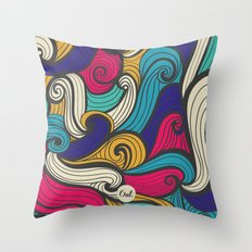 out waves Throw Pillow