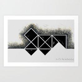 The city of black squares 3 Art Print