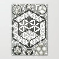 sacred geometry Canvas Prints featuring Sacred by Brandon Leung