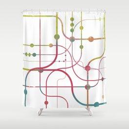 Line x Line-BubblegumPop-B Shower Curtain