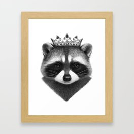 King raccoon Framed Art Print
