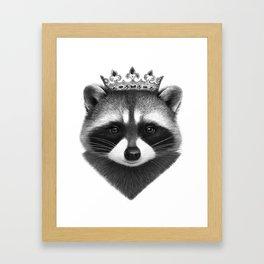 King raccoon Framed Art Print