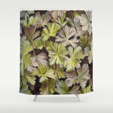 Leafy Abstract Shower Curtain
