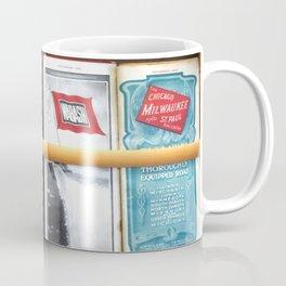 Original Early 1900s American Train Time Tables (RARE) Coffee Mug