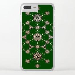 molecule of life. sacred geometry. alien crop circle Clear iPhone Case