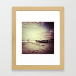 once upon a sunset Framed Art Print