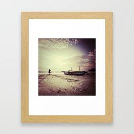 once upon a sunset Framed Art Print