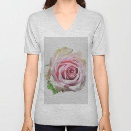 Antique Blush Rose Unisex V-Neck