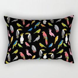 Tropical birds jungle animals parrots macaw toucan pattern Rectangular Pillow