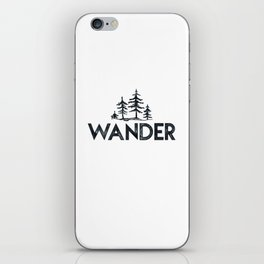 WANDER Forest Trees Black and White iPhone Skin
