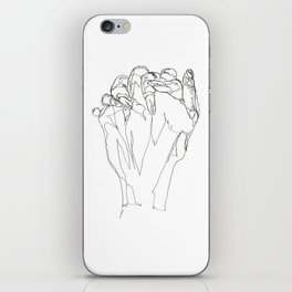 Line XIV (hands [clasped]) iPhone Skin