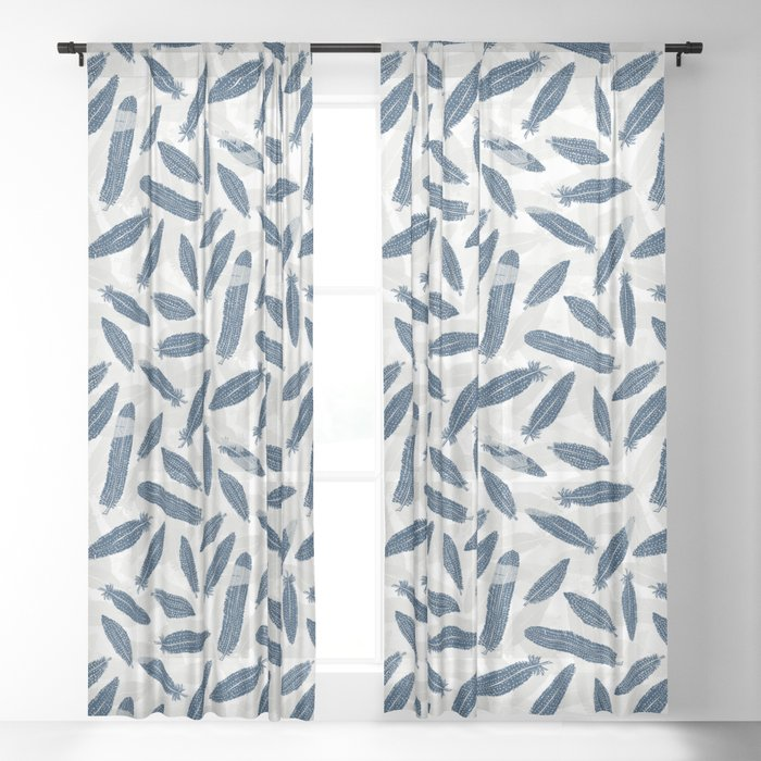 Feathers of the Guinea Hen Sheer Curtain