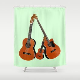 Acoustic instruments Shower Curtain