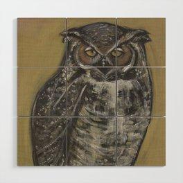 Great Horned Owl Wood Wall Art