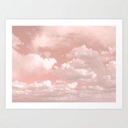 Clouds in a Peach Sky Art Print