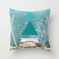 swim Throw Pillows featuring Swim by TiannaFowler