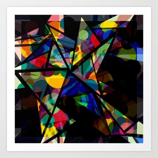 Geometric Splash Art Print