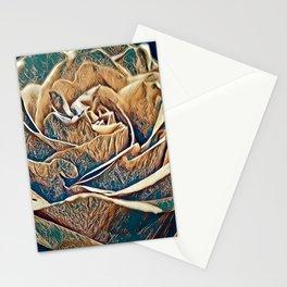 Metalic Rose Stationery Cards