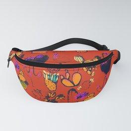 Orange Cacti Fanny Pack