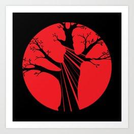 tree before the sun Art Print