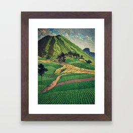 Crossing people's land in Iksey Framed Art Print