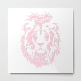 Pink Lion Metal Print