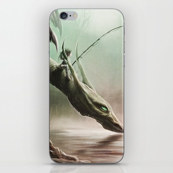 Fishing On The Drinking Dragon iPhone & iPod Skin