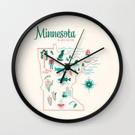 Minnesota State Love Wall Clock