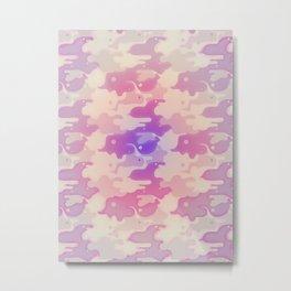 Lava Lamp Lavender  Metal Print