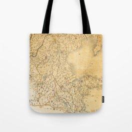 Map of Zhili and Shandong, China (c1855-1870) Tote Bag