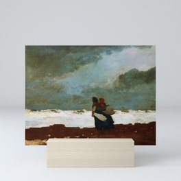 12,000pixel-500dpi - Winslow Homer1 - Two Figures By The Sea - Digital Remastered Edition Mini Art Print