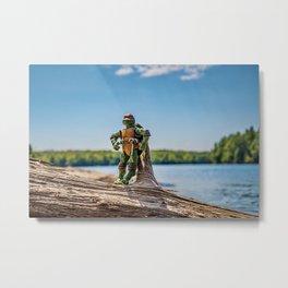 Raphael Enjoying the Lake Metal Print