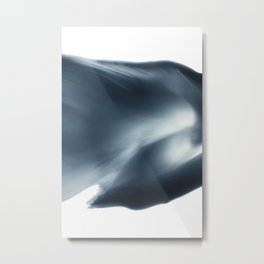 Monochromatic Ink Flow Metal Print
