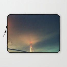 Bridge in Fog 2 Laptop Sleeve